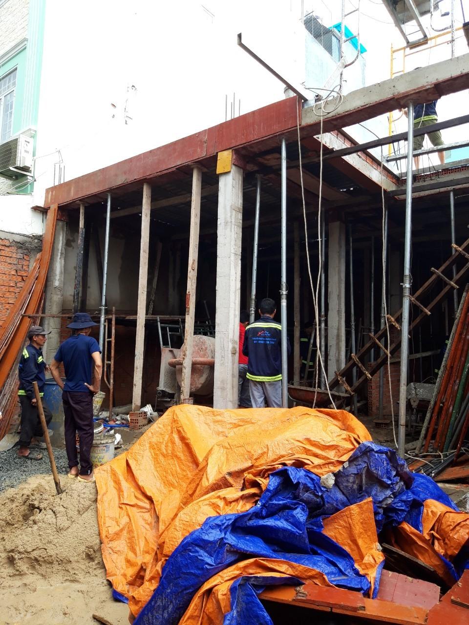 Thi công xây nhà đúc giả 2 tầng Quận 8