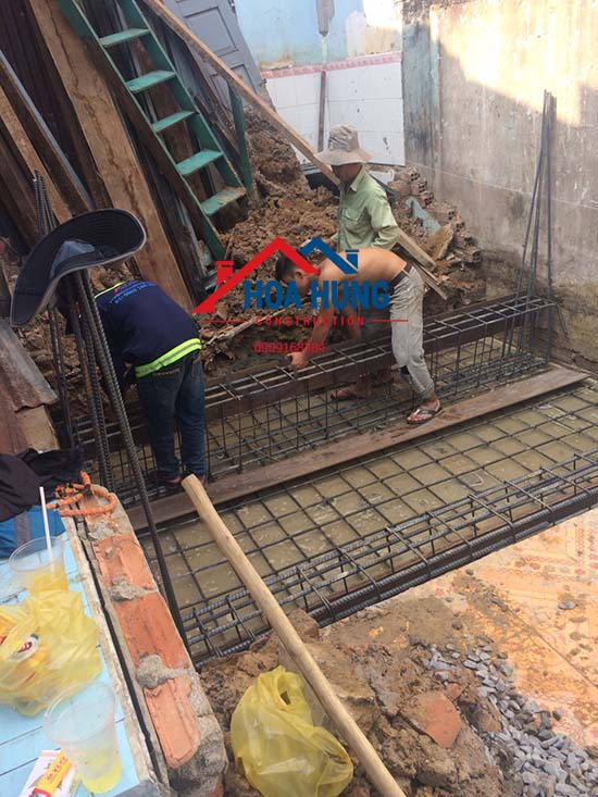 Gia cố móng nâng tầng nhà