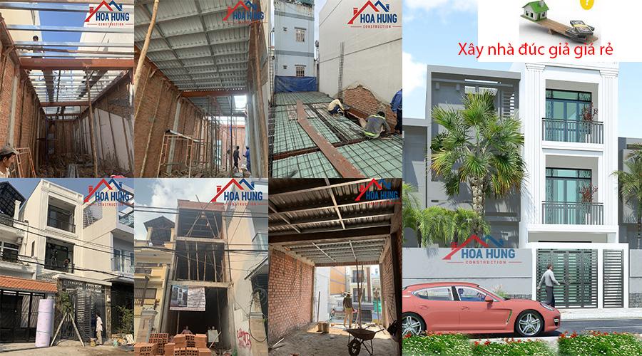 Đơn giá xây dựng nhà đúc giả tại tp HCM