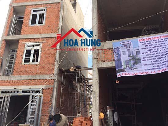 xây dựng nhà nhỏ hơn so với giấy phép xây dựng