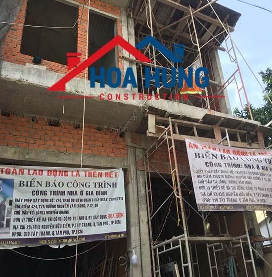 giá xây nhà trọn gói tại Q6 tp HCM