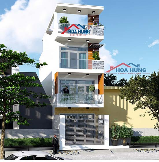 xây dựng nhà 3,5 tầng tại Quận 9,tp HCM