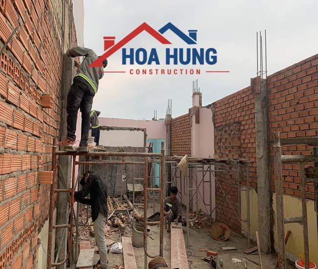 Sửa chữa nhà từ 2,5 tầng thành 3,5 tầng tại TP.HCM