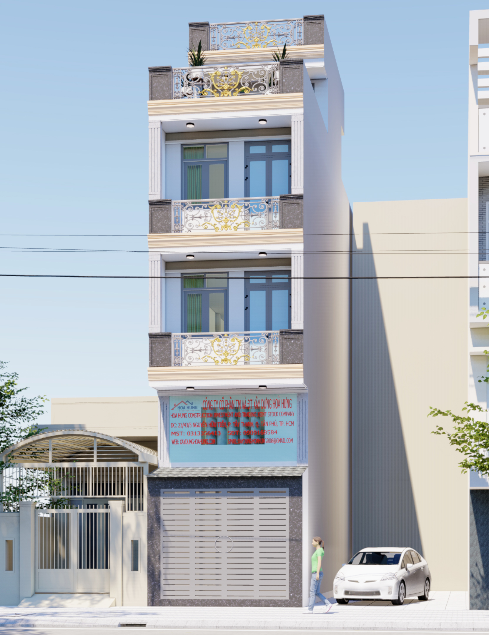 những mẫu nhà phố đẹp năm 2021